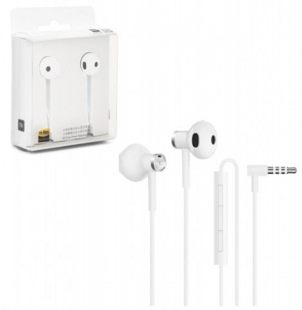 Fone de Ouvido Xiaomi Mi Dual Driver Earphones BRE01JY com Microfone P2 Branco - ZBW4406TY
