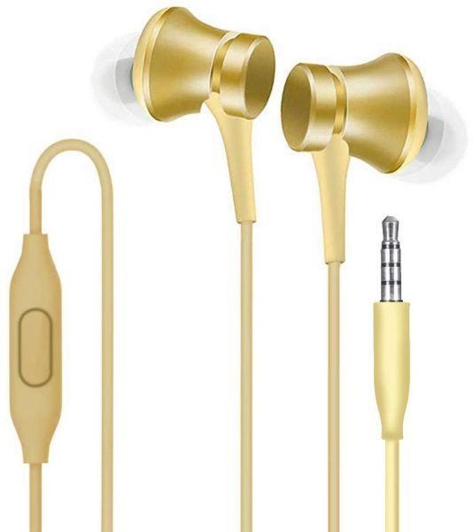 Fone de ouvido Xiaomi MI Piston 3 In Ear Basic Style - Dourado