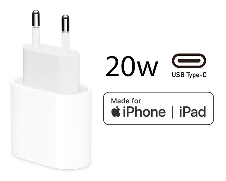 Fonte Carregador Compatível iPhone SE Xr 11 12 Turbo Usb-c 20w