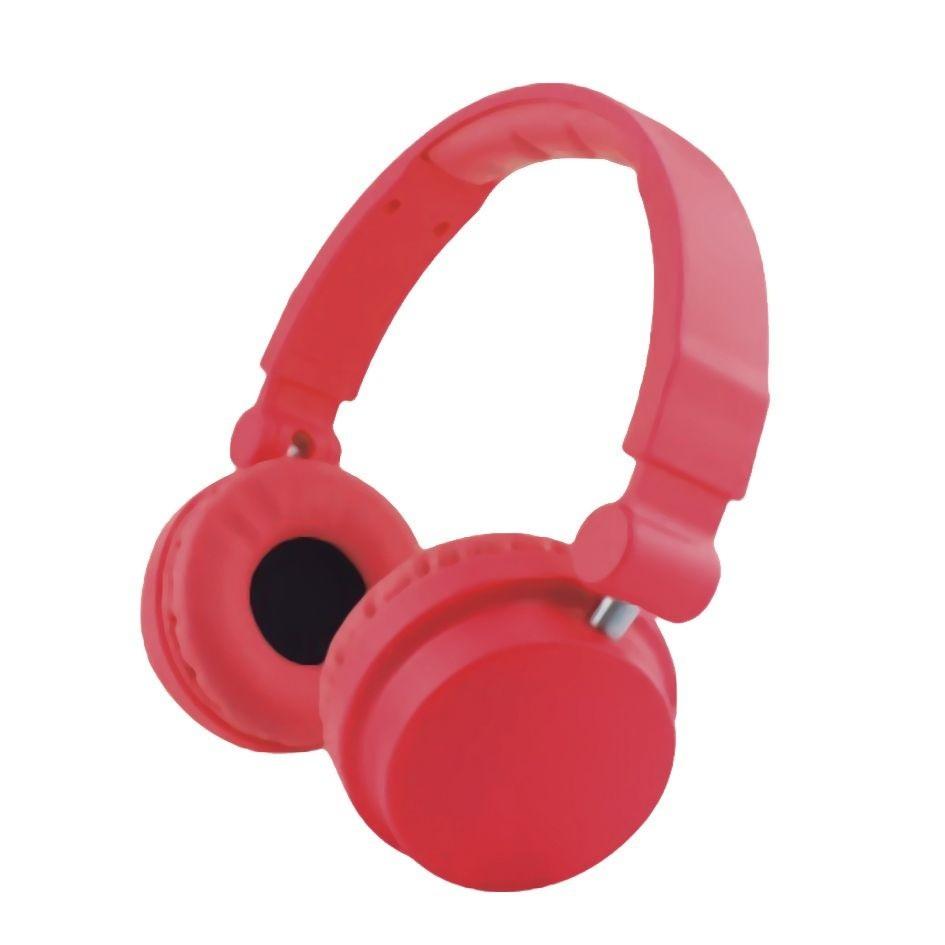 Headphone Cool Colors Leadership com Microfone Vermelho - 2792