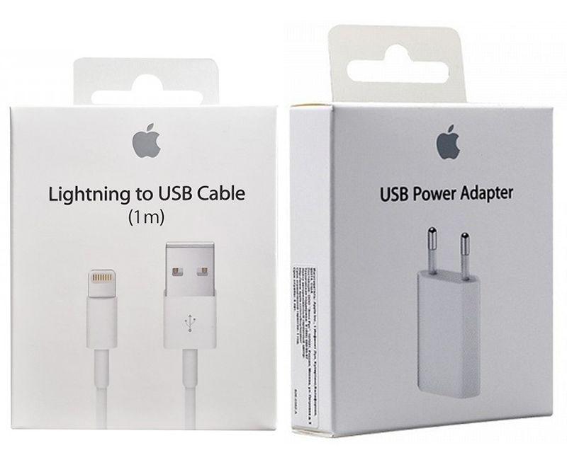 Kit Carregador Completo Iphone 7 Apple, Fonte + Cabo USB Lightning