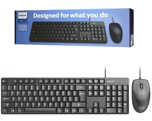 Kit teclado e mouse 1000DPI com fio Philips C254