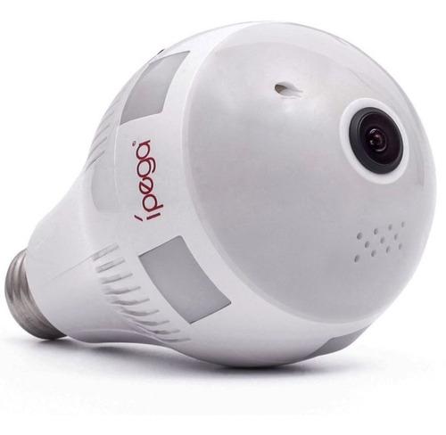 Lâmpada espiã led Ípega KP-CA153 com câmera escondida Panorâmica 360º IP Wi-fi