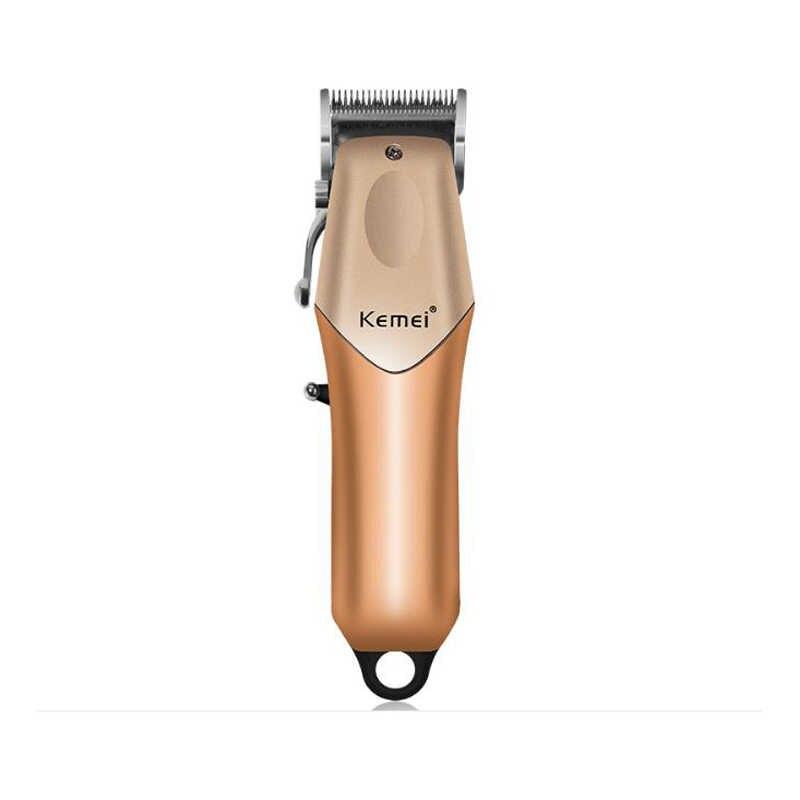 Maquina de cortar cabelo profissional Kemei km-2614 display led e 5 pentes guia