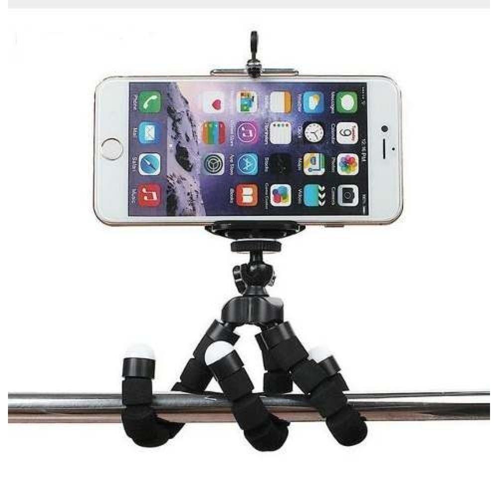 Mini Tripé Flexível Universal câmeras Smartphone Tablets GPS