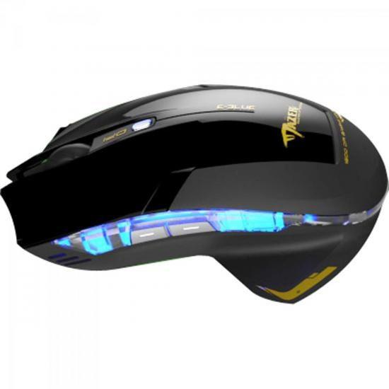 Mouse Gamer USB 2400DPI Mazer Type-R Preto E-BLUE