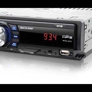 MP3 Player Automotivo Multilaser One - FM, USB, SD e AUX