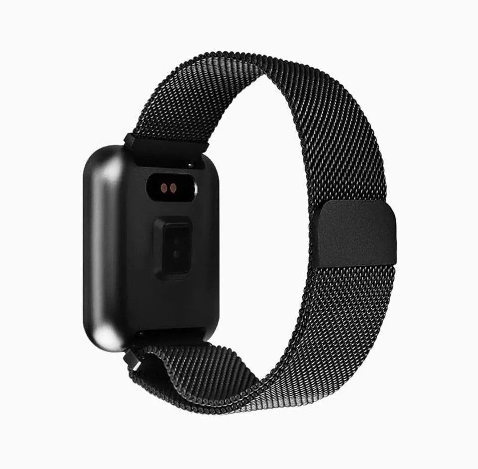 Relógio Inteligente Smartwatch S7 IP67 Square com 2 Pulseiras Silicone/Metal - Preto
