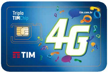 Tim Chip Triplo Corte Tecnologia 4G Pré Nacional