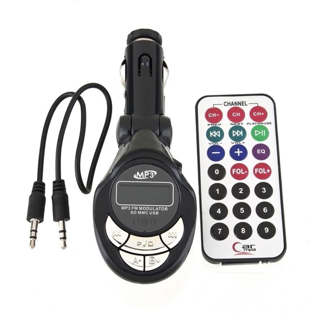 Transmissor Fm Veicular Compatível com Pendrive, Cartão SD e Micro SD