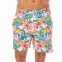 Bermuda Masculina Adulto Arara e Flores