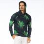 Blusão Masculino com Capuz Folhas de Bananeira