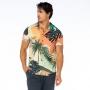 Camisa de Botão Adulto Coqueiro e Folhagens