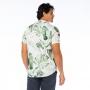 Camisa de Botão Adulto Folhagens Verde