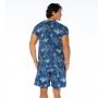 Camiseta Básica Adulto Coqueiros em Fundo Azul
