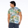 Camiseta Básica Adulto Folhagens e Praia