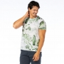 Camiseta Básica Adulto Folhagens Verde