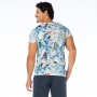 Camiseta Básica Adulto Paisagem com Arara e Tucano