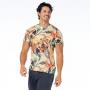 Camiseta Básica Adulto Tucano e Folhas Laranja