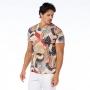 Camiseta Básica Adulto Tucano em Pontilhados e Folhas