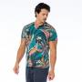 Camiseta Básica Adulto Tucanos e Folhas Coloridas