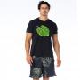 Camiseta de Algodão Estonada Costela de Adão Verde