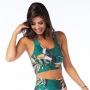 Top Fitness Feminino Tucano com Folhagens Coloridas