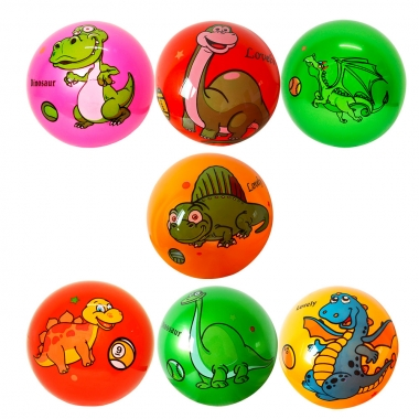 Bola De Vinil 22Cm Estampada Dinossauro Sortido - DM TOYS