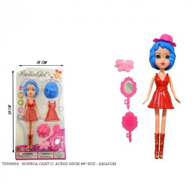 Boneca Fashion Girl com Acessórios Sortido - AMACOM