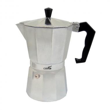 Cafeteira Italiana Em Alumínio Para 6 Xícaras 300ml - Casita Prata