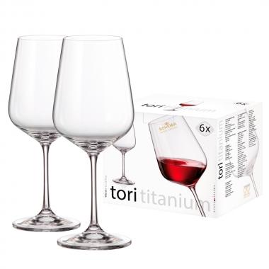 Conjunto Com 6 Taças Bohemia Para Vinho Tinto Tori 490ml- Yin's Home