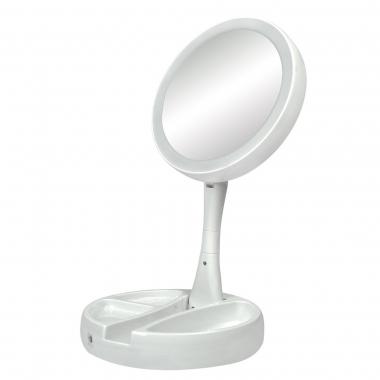 Espelho Mesa Redondo Com Led 13cm - Iamo Branco