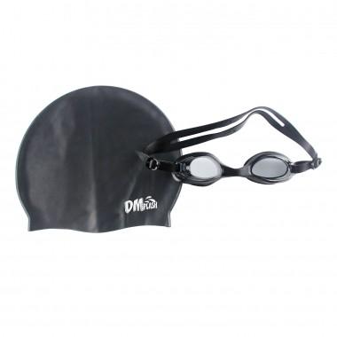 Kit 2 Peças Óculos E Touca Para Natação Splash - Dm Toys