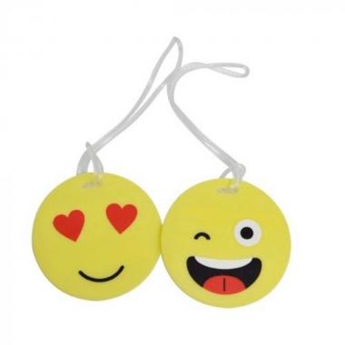 Kit C/ 02 Identificadores De Bagagem Emoji Yins