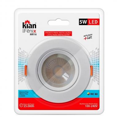 Luminária Spot Led 5w 6k - Kian