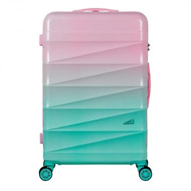 Mala De Viagem ABS Grande 28 Polegadas GRADIENTE Colors Rosa E Verde Com Roda 360 Graus - YINS