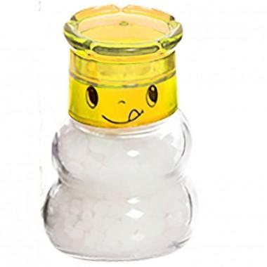 Moedor De Sal E Pimenta Carinhas 150ml - Yin's Home Amarelo