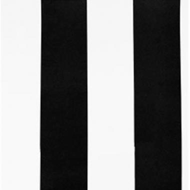 Papel De Parede 45x1000cm Listras Preta/Branca