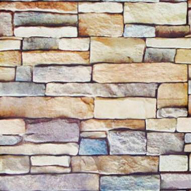 Papel De Parede 45x200cm Pedras Color 3d