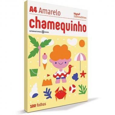 Papel Sulfite A4 75g 100 Folhas - Chamequinho Amarelo
