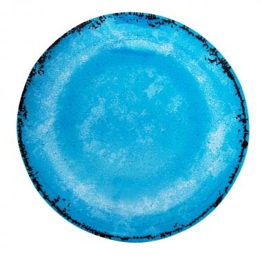 Prato Raso Linhas Azuli 28cm - Yin's Home