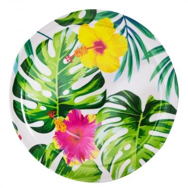 Prato Sobremesa Tropical 23cm - Yin's Home