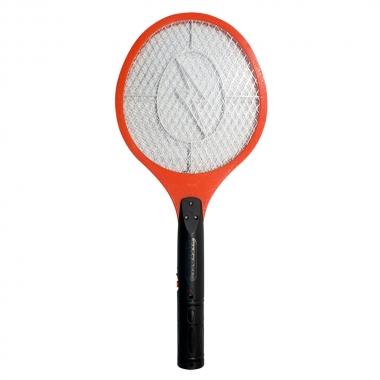 Raquete De Mata Mosquito Recarregavel Bivolt - Alfacell Vermelha