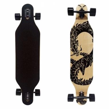 Skate Longboard 104X24cm Dragão - DM TOYS