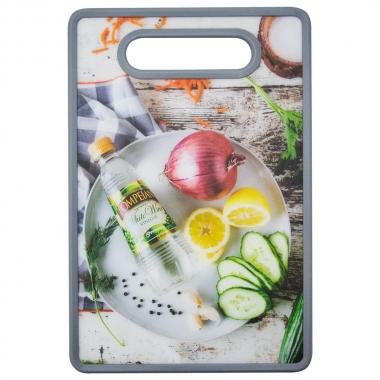 Tábua Retangular Food Vinagre 30x20cm - Yin's Home Cinza