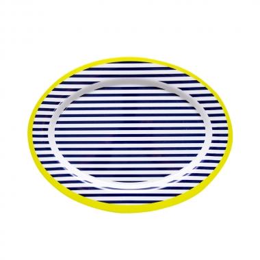 Travessa Oval Linhas 35,5x26cm - Yin's Home