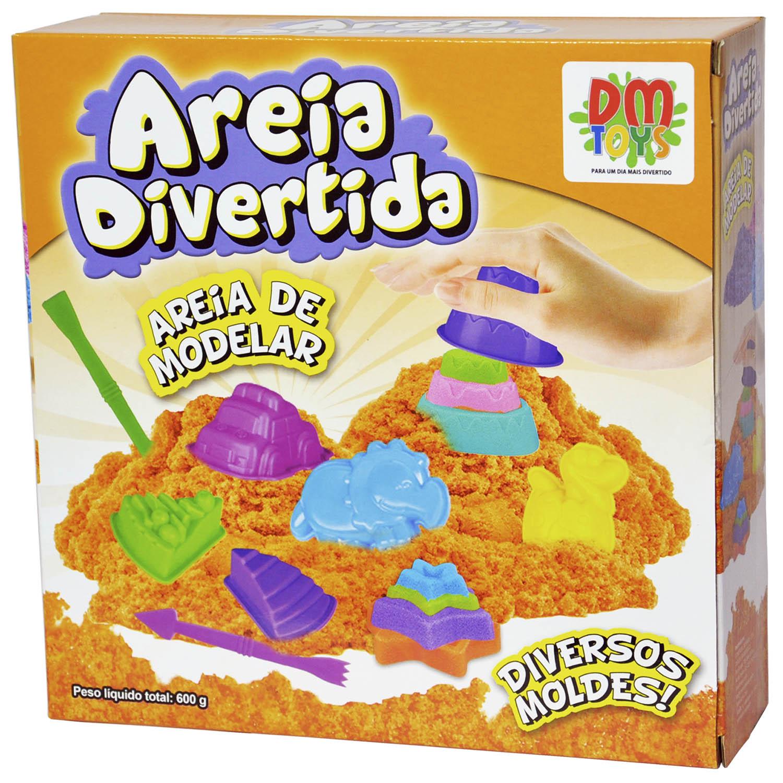 AREIA DIVERTIDA COLORIDA DE BICHOS COM ACESSÓRIOS 600G - DM TOYS