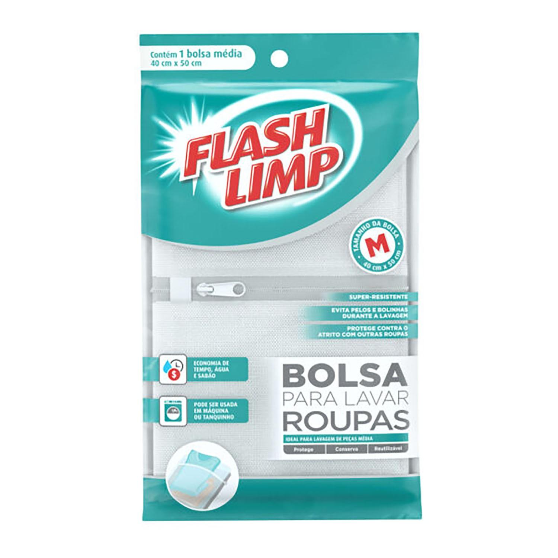 BOLSA PARA LAVAR ROUPAS 40X50CM - FLASHLIMP
