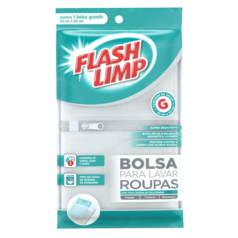 BOLSA PARA LAVAR ROUPAS 50X60CM - FLASHLIMP