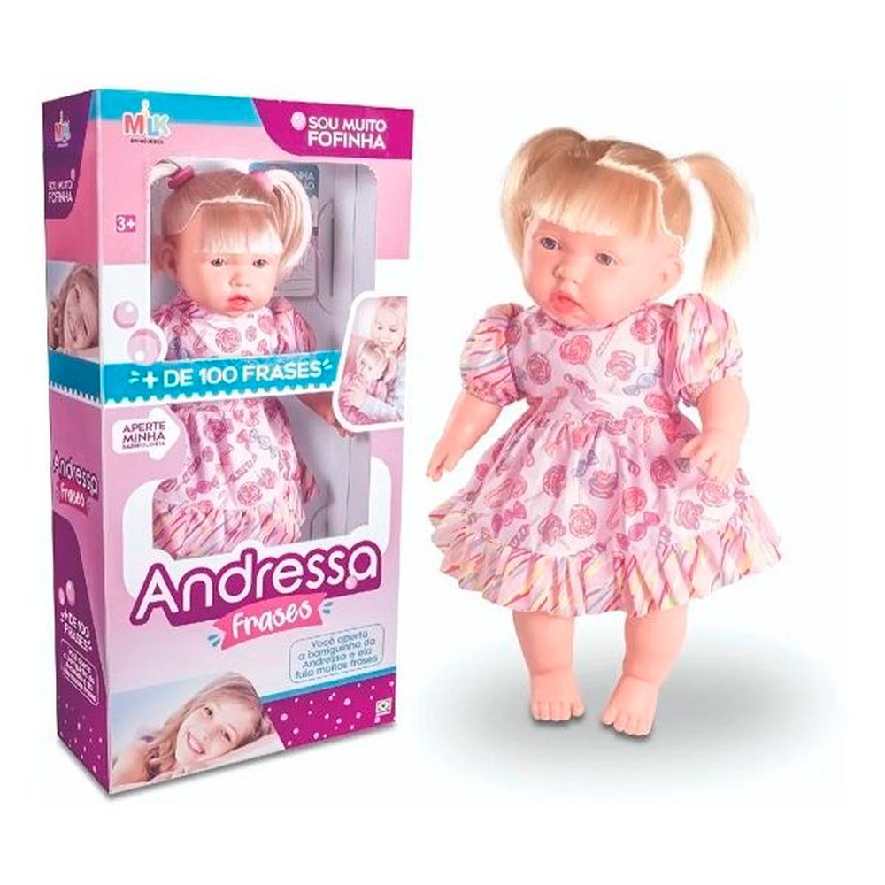 Boneca Andressa +100frases Loira Milk
